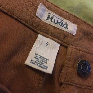Light brown high waist button up skirt